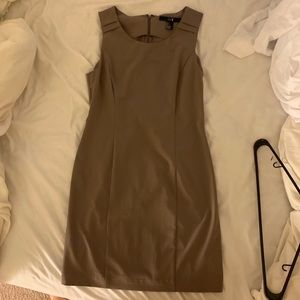 Tan work dress